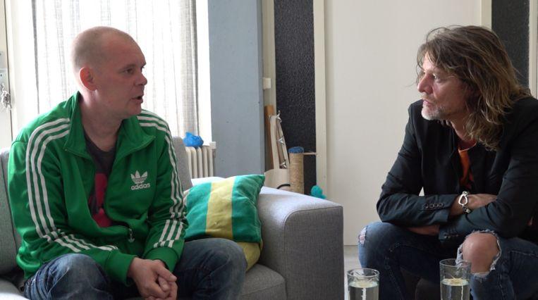 Tygo Gernandt en Jeroen in 'Tygo in de psychiatrie'. Beeld EO