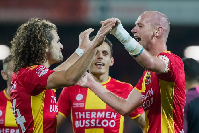 Mael Corboz (l) en Elmo Lieftink (r) zijn belangrijk bij het vernieuwde GA Eagles.