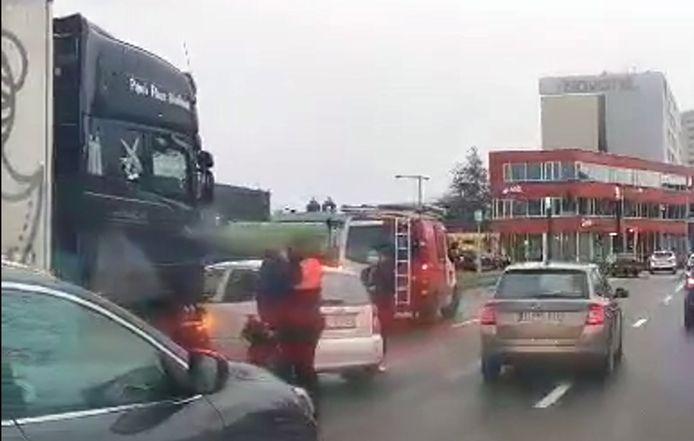 Ongeval aan het Artoisplein in Leuven.