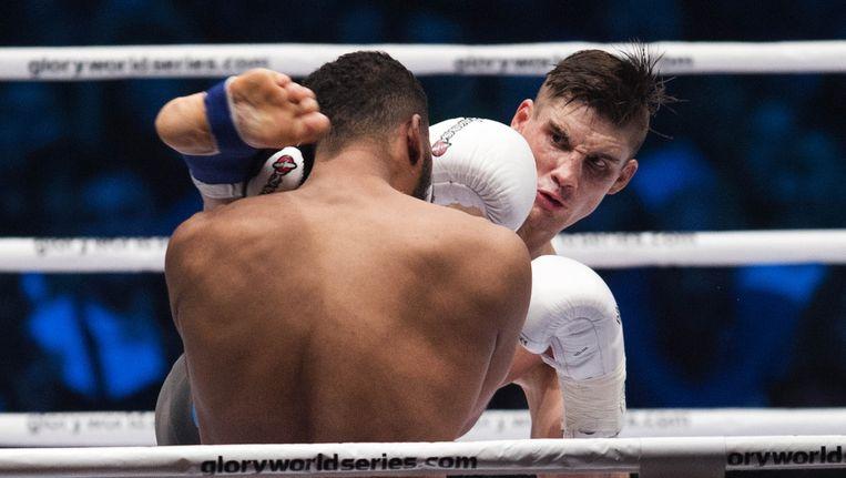 Rico Verhoeven wint met een knock-out van Benjamin Adegbuyi. Beeld anp
