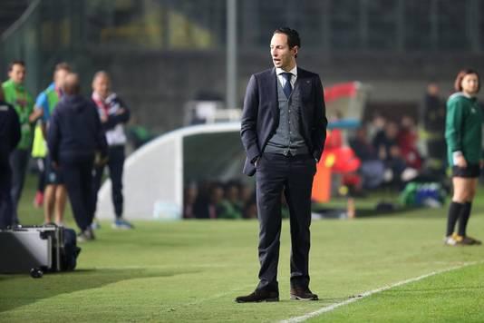 Coach Benno Nihom van de Ajax Vrouwen.