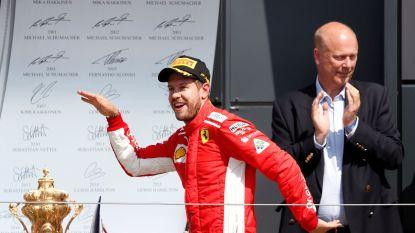 Vettel zegeviert in Silverstone na bloedstollende finale en inhaalrace Hamilton, Vandoorne elfde