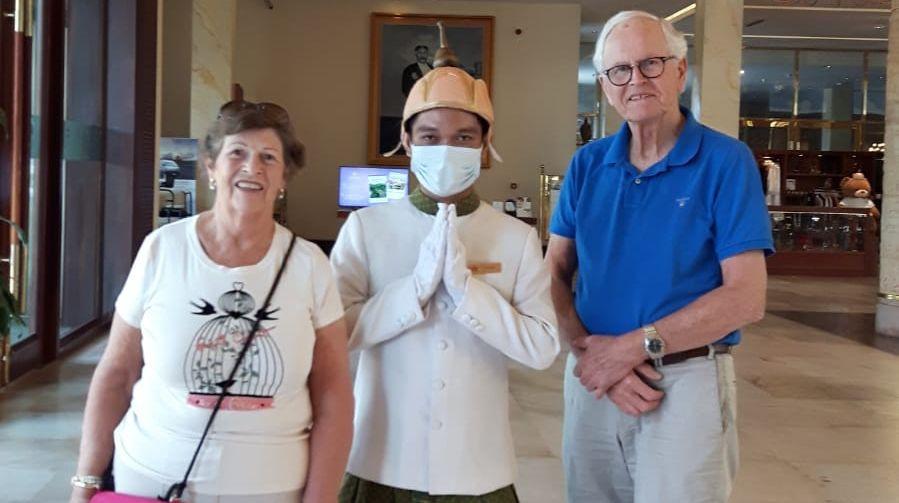 Henk Kortes en Reini van Loon uit Winterswijk waren passagiers van het 'corona-schip' Westerdam en zitten nu vast in Cambodja.