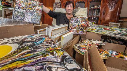 """Dochter verkoopt 700 (!) schilderijen van kunstenares Frida Coudenys: """"Het zijn er gewoon te veel om zelf allemaal te houden"""""""