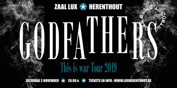 De Britse band The Godfathers zal begin november hun beste beentje voorzetten in Zaal Lux in Herenthout.