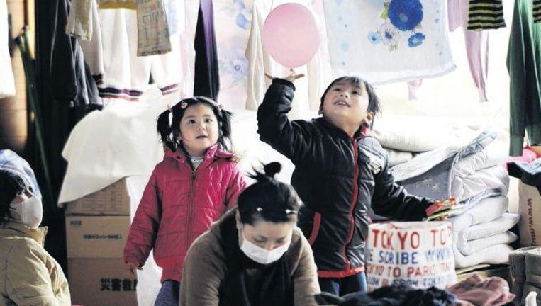 Opvangcentrum, Onagawa. 'Gaman' ¿ zelfbeheersing, tolerantie, volharding ¿ houdt Japanners gaande. Foto: ap Beeld