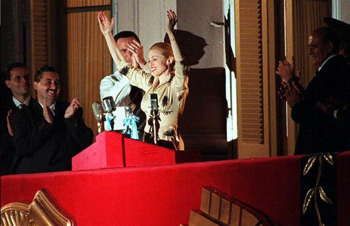 Madonna in de film Evita.