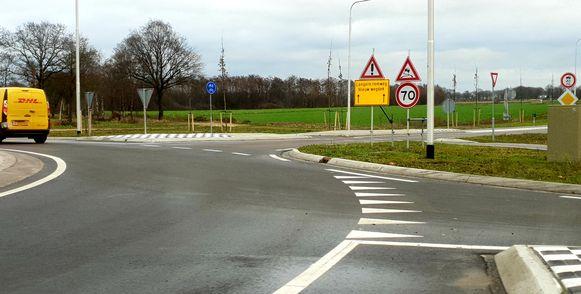Een deel van de randweg is al opengesteld voor het verkeer.