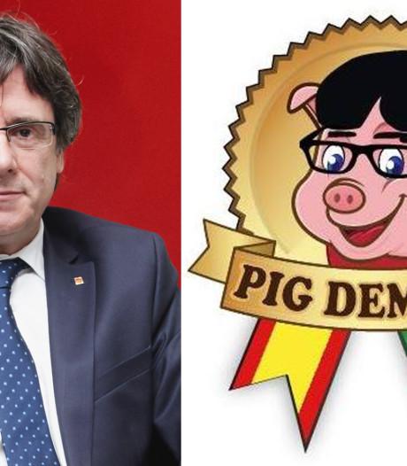 Rel om logo op ham dat lijkt op ex-premier Puigdemont
