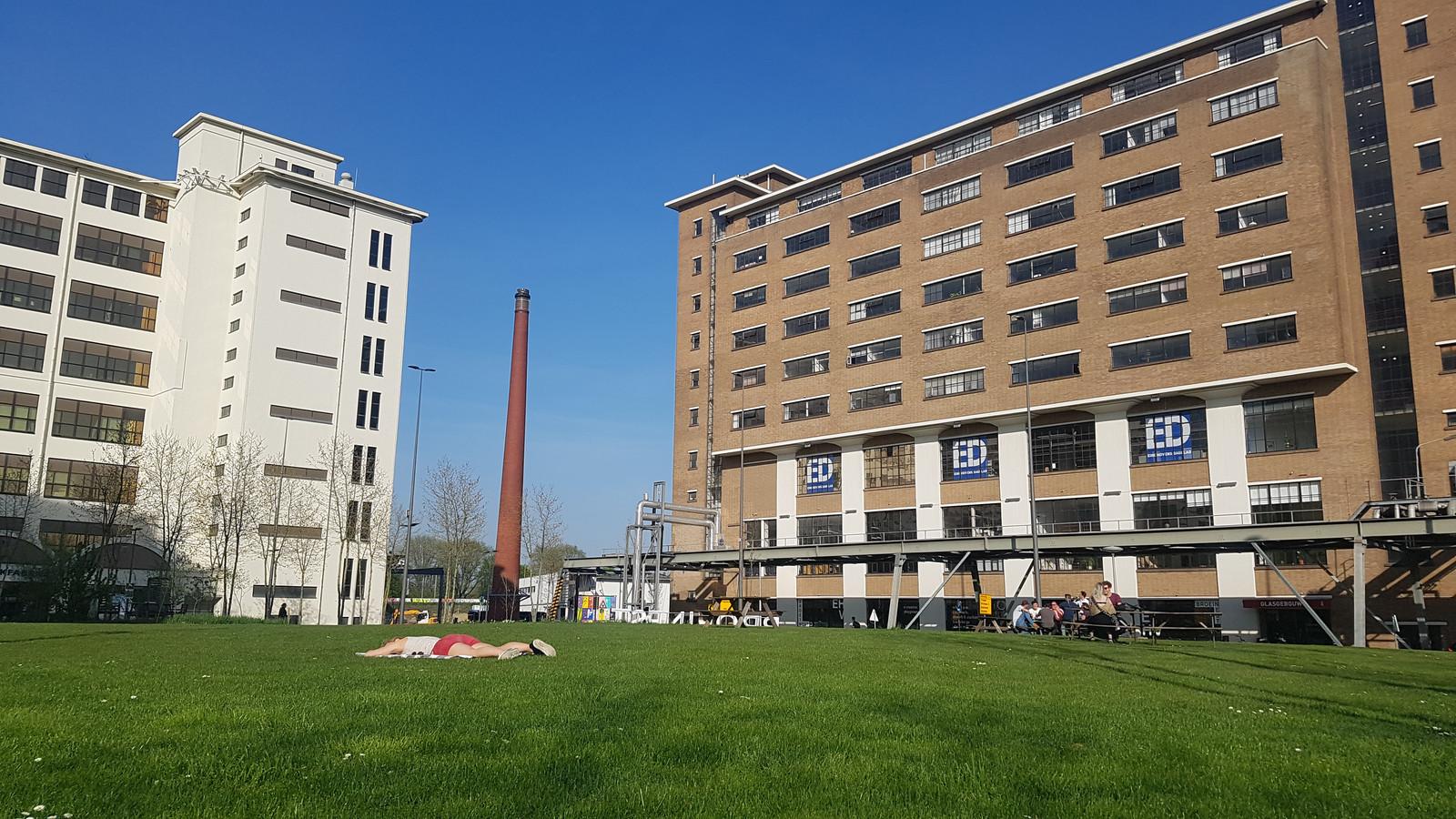 Het Glasgebouw op Strijp-S (rechter gebouw), de locatie van de redactie in Eindhoven.