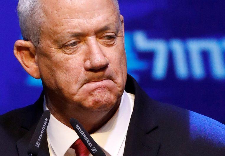Oppositieleider Benny Gantz, voormalig stafchef van het Israëlische leger.
