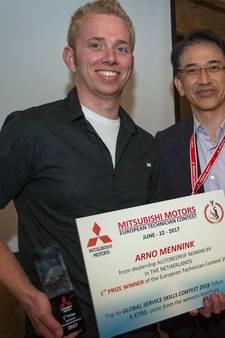Borculoër Mennink beste automonteur van Mitsubishi in heel Europa