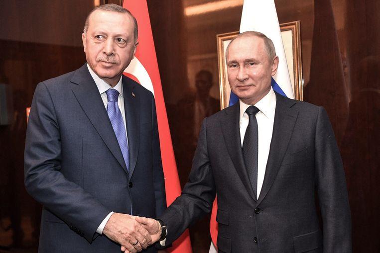 Erdogan en Poetin bij een eerdere ontmoeting.