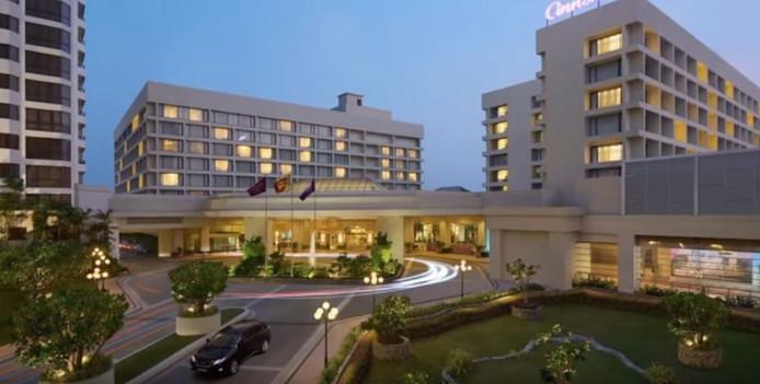 Het super de luxe Cinnamon Grand hotel in Colombo waar de Nederlandse vrouw omkwam.
