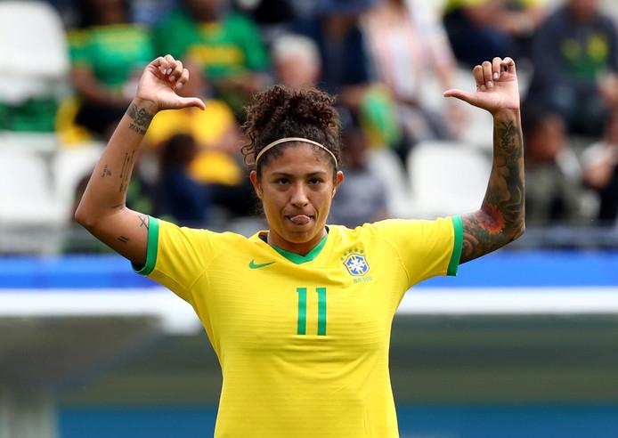 Cristiane nam alle goals van Brazilië voor haar rekening.