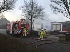 Brandje in chalet bij Wehl, spullen voor hennepkwekerij aangetroffen