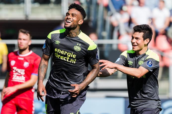 Locadia en Lozano zetten hun doelpuntendrift door op de training.