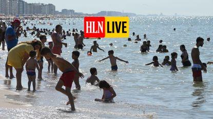 LIVE. File op E40, code geel in verschillende kustgemeenten: zo puft en zweet Vlaanderen zich het weekend door