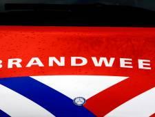 Brand in bedrijf, rook trekt over Stolwijk