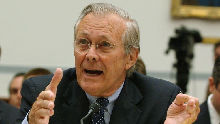 Donald Rumsfeld. Beeld ap