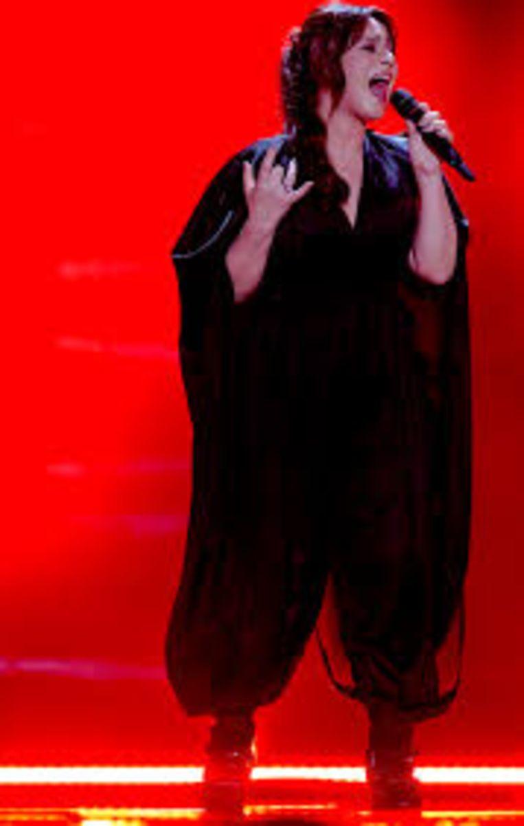 Trijntje Oosterhuis op het Eurovisiesongfestival in 2015 Beeld eurovise