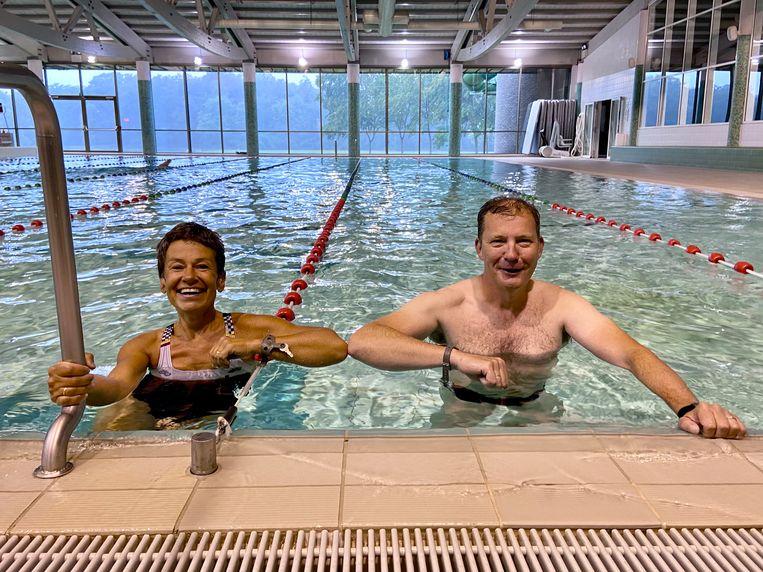 Sportschepen van Brasschaat Adinda Van Gerven met de Schotense sportschepen Paul De Swaef