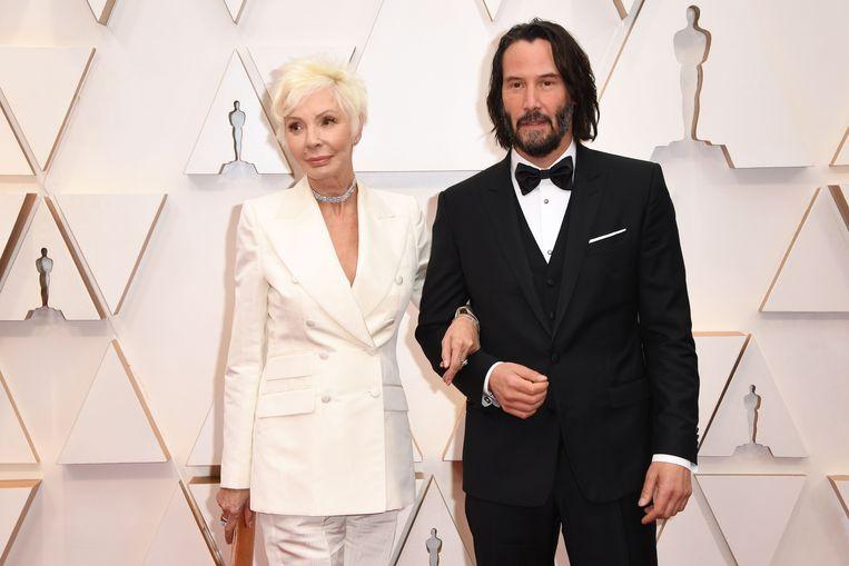 Keanu naast zijn moeder Patricia Taylor