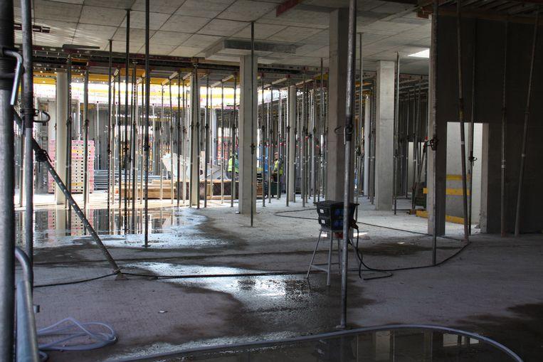 Hier komt de foyer van het nieuwe hotel.