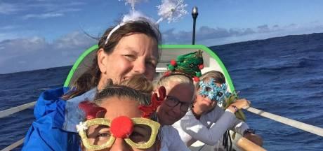 Stormachtige kerst voor Kortgeense roeister op oceaan