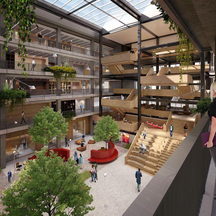 Impressie van het nieuwe Huis voor de Stad in Helmond.
