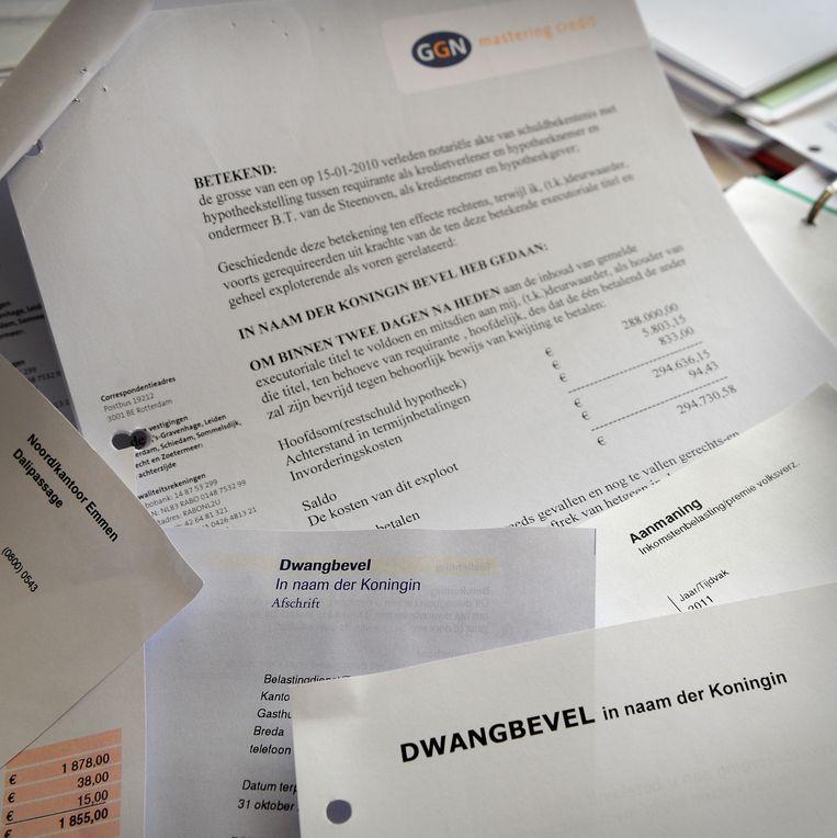 Dwangbevel van een deurwaarder. Beeld Marcel van den Bergh  /  De Volkskrant