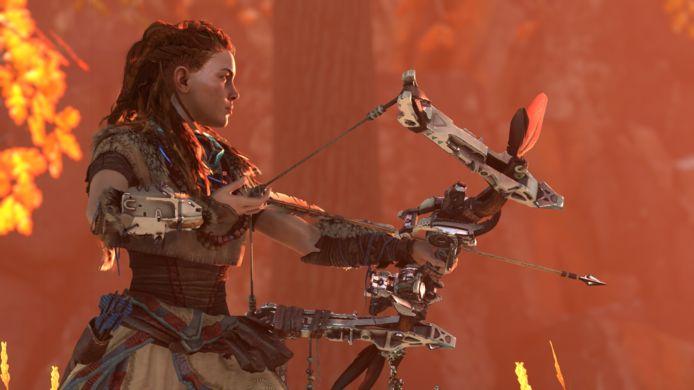 Hoofdpersonage Eloy uit 'Horizon: Zero Dawn'.