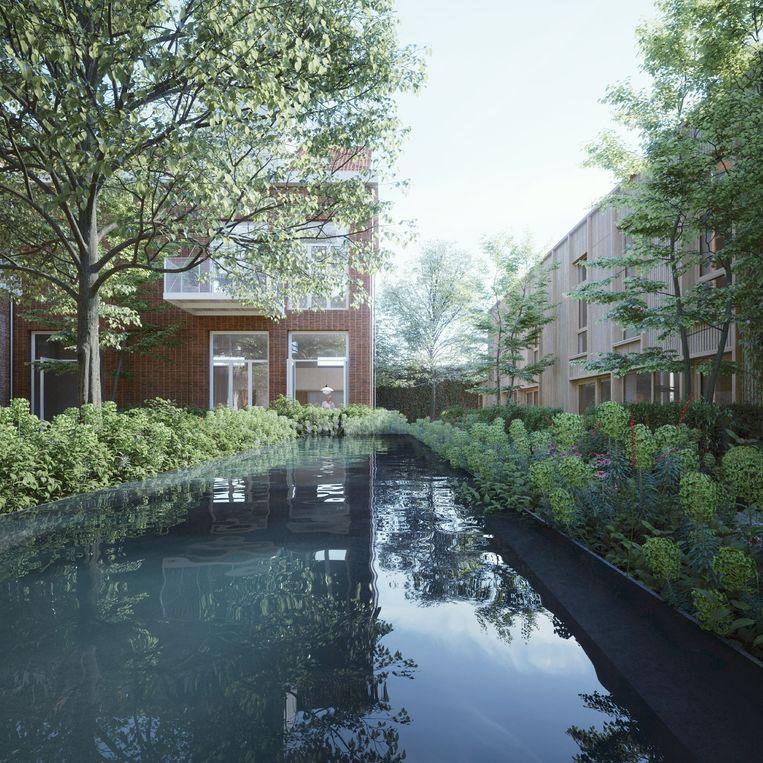 Een 3d-beeld van de Academie in Turnhout.