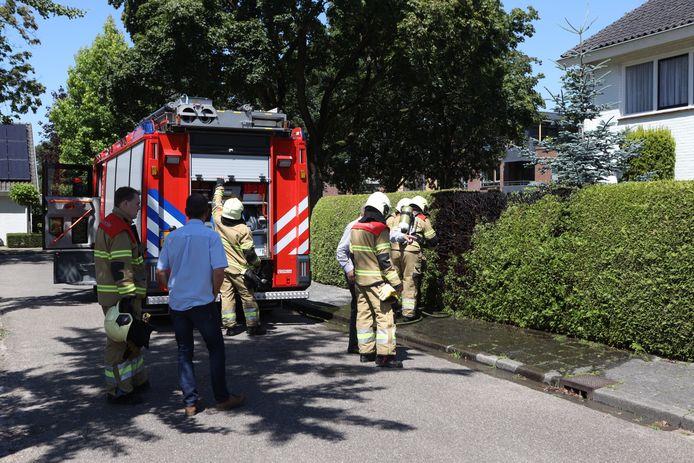 Heg vat vlam door onkruidbrander in Sint-Michielsgestel.