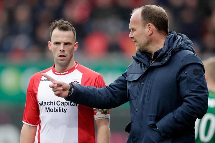 Anco Jansen met coach Dick Lukkien.