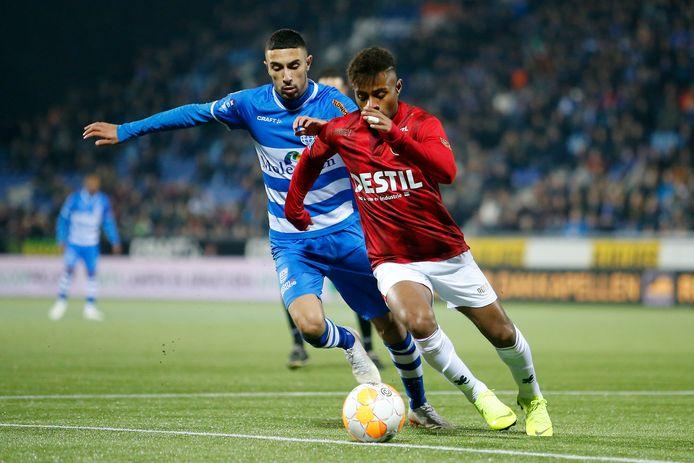 Palacios tijdens het duel met PEC Zwolle (2-3).