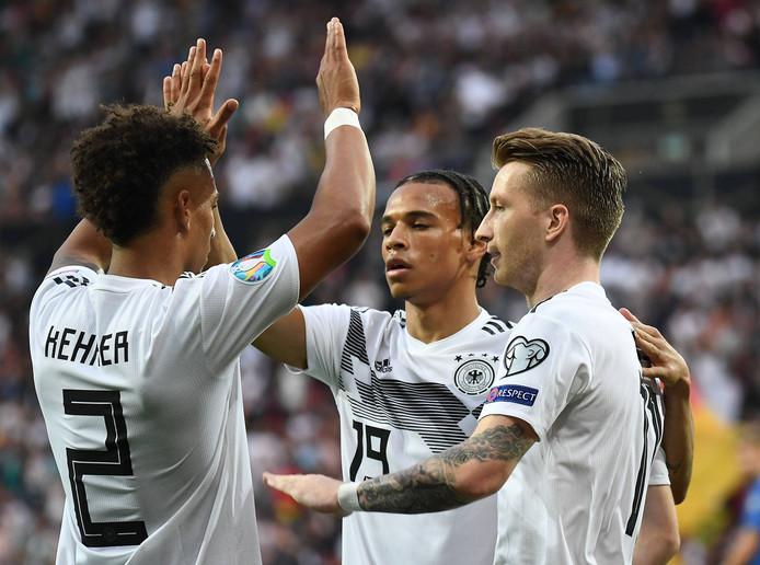 Duitsland is op schot tegen Estland.