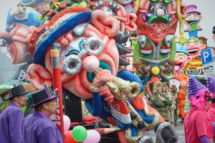 Beeld uit de optocht op carnavalsmaandag in Moesland van dit jaar.