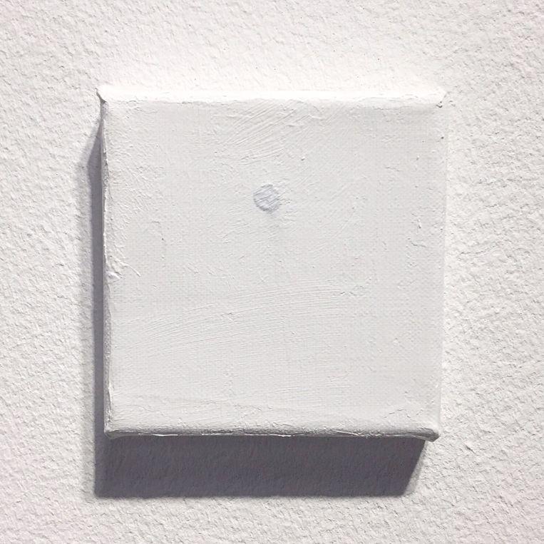 De Spijker door Bas van Wieringen, nadat het kunstwerk per abuis was overgeschilderd. Beeld RV