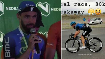 """De gekke dag van Campenaerts, die wint na solo van 80 km en uitpakt met gulle geste: """"Mijn vader moest huilen toen hij het hoorde"""""""