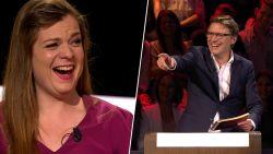Erik Van Looy en sopraan Astrid Stockman delen dezelfde hilarische lach