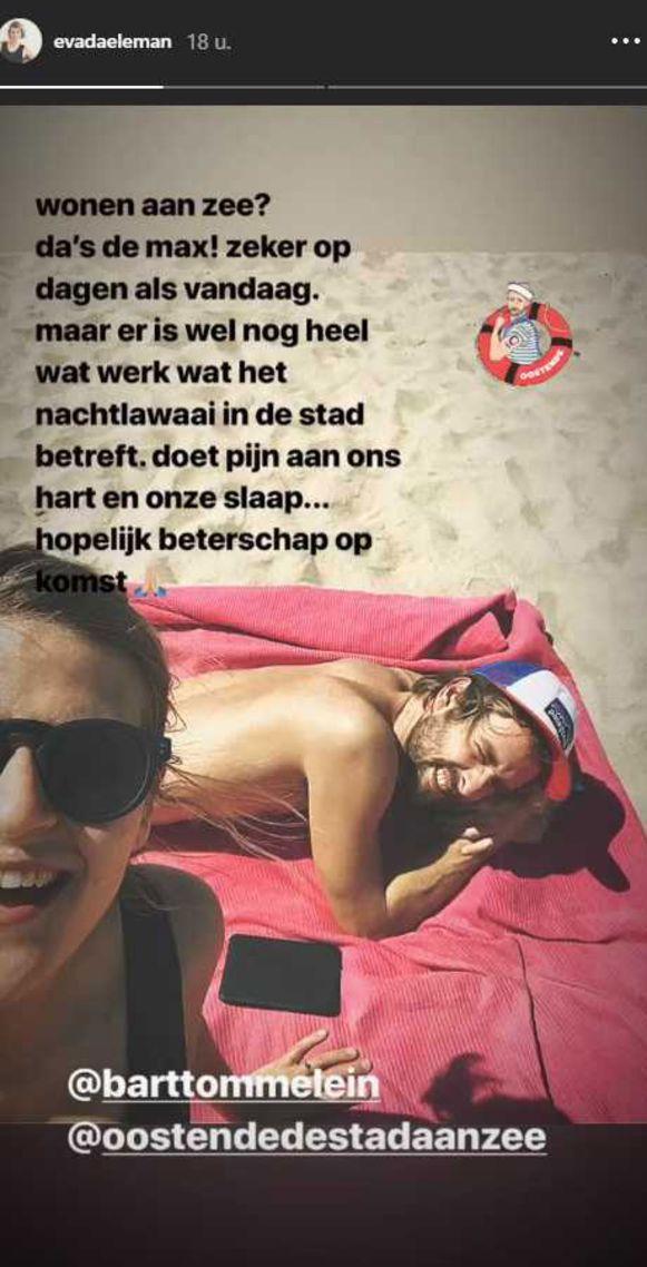 Eva Daeleman op Instagram Stories.