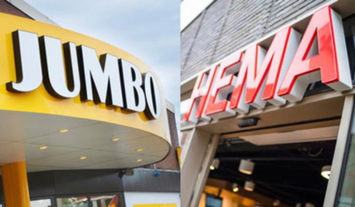 Jumbo en Hema gaan samenwerken.