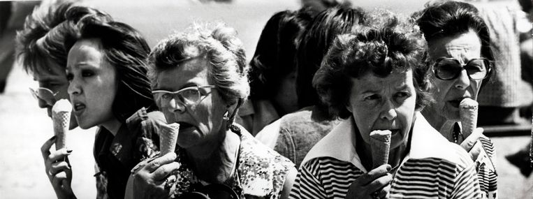 Aanhoudende warmte zomer 1976 in Nederland, 6 juli.  Beeld Hollandse Hoogte / Spaarnestad Photo