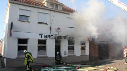 Brand vernielt café 't Brouwershof