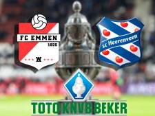 LIVE | Emmen en Heerenveen strijden in Oude Meerdijk om plek in kwartfinale