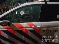 Politieauto vernield bij Bruins in Saasveld