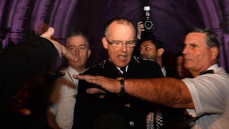 Mark Rowley (m), hoofd van de Britse terreurbestrijding. Beeld afp