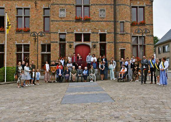 Feest in het gemeentehuis voor Hilaire Besard en Maria Odevaert.