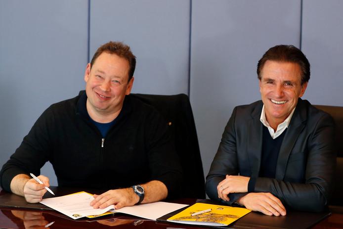Ondanks de komst van de Russische trainer Leonid Sloetski (links) blijft het budget bij de Gelderse eredivisionist gelijk.
